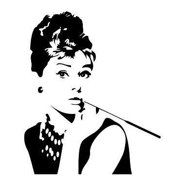Naklejka Na Sciane Sylwetka 43 Audrey Hepburn Szabloneria Pl